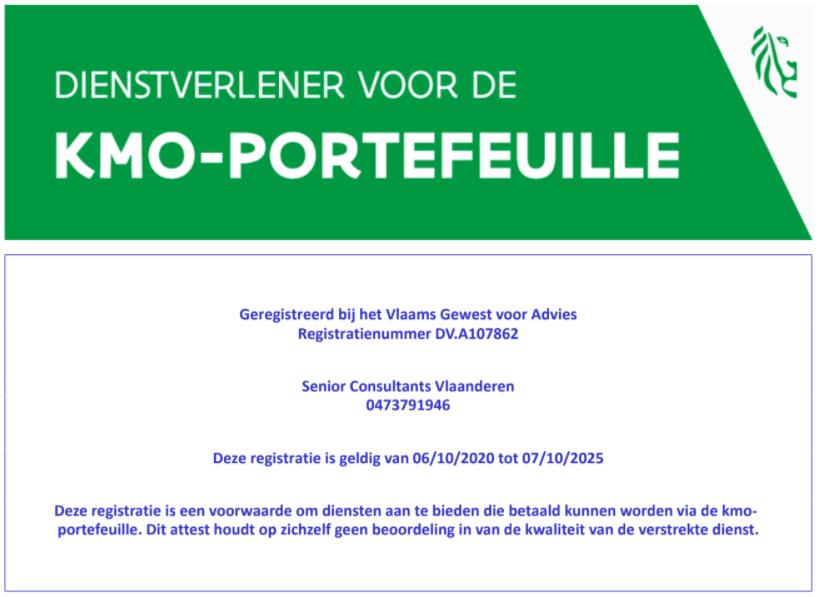 KMO-Portefeuille Certificaat